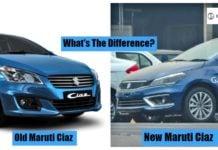 Maruti ciaz 2018 vs old ciaz front image