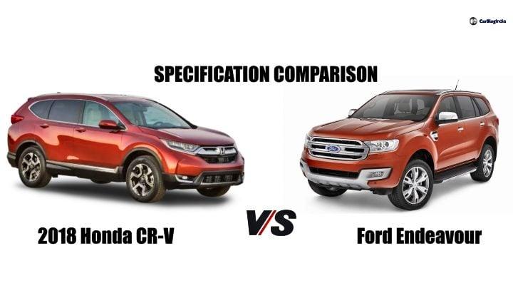 2018 Honda CR-V Vs Ford Endeavour main image