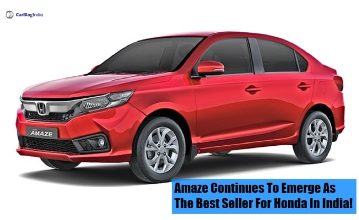 Amaze continues to emerge as the best seller for Honda in India