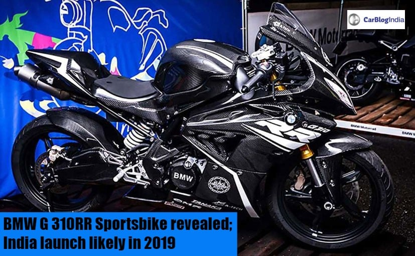 Bmw G 310rr Sportsbike Revealed India Launch Likely In 2019