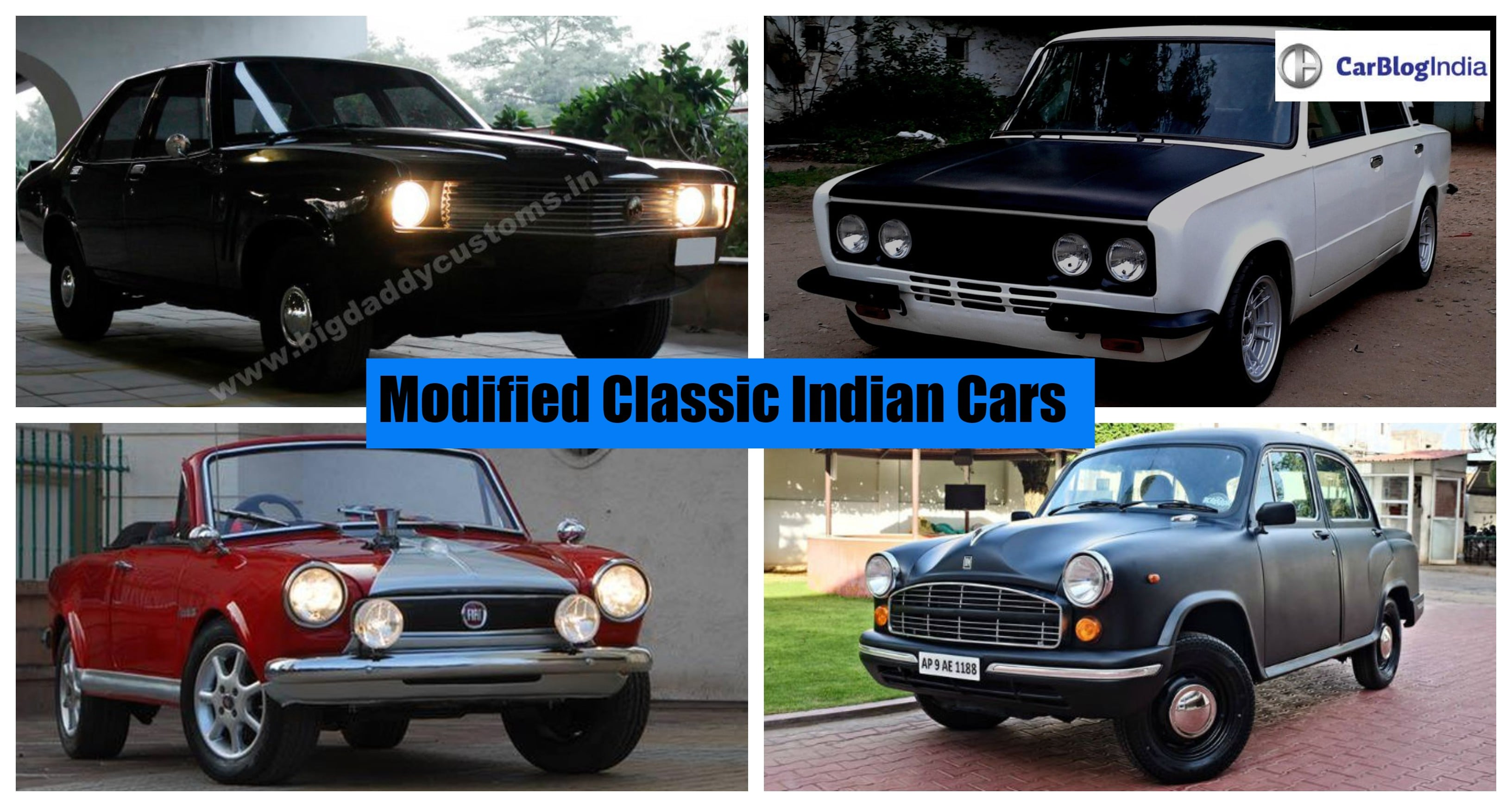 Modified classic Indian cars- Contessa, Ambassador, Padmini