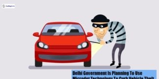 Delhi Government vehicle theft image