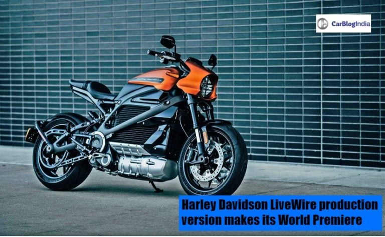 Harley Davidson LiveWire production version makes its World Premiere