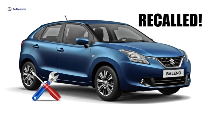 Maruti Baleno, Vitara Brezza and S-Cross Recall- Complete Information