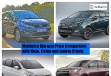 Mahindra Marazzo Vs Competition