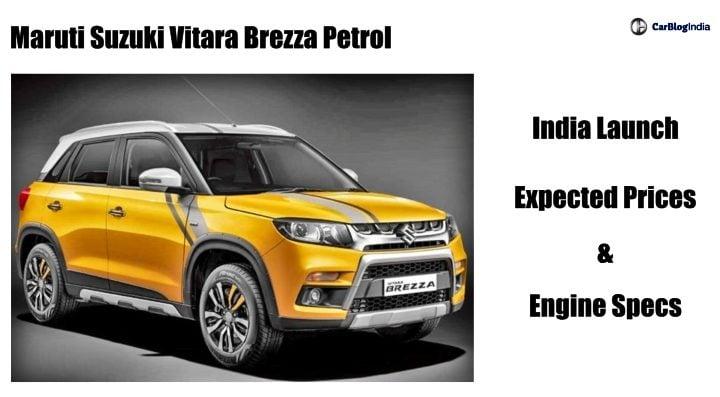 Maruti Vitara Brezza Petrol Price In India