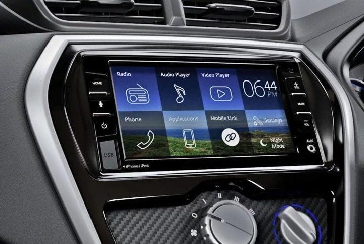 datsun go facelift interiors touchscreen image