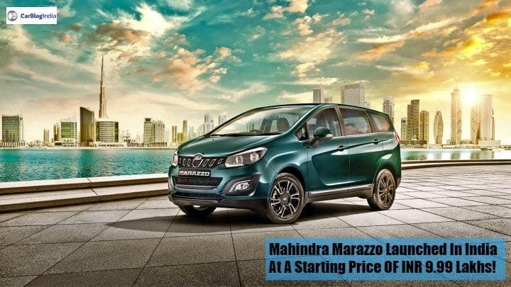 mahindra marazzo mpv front image
