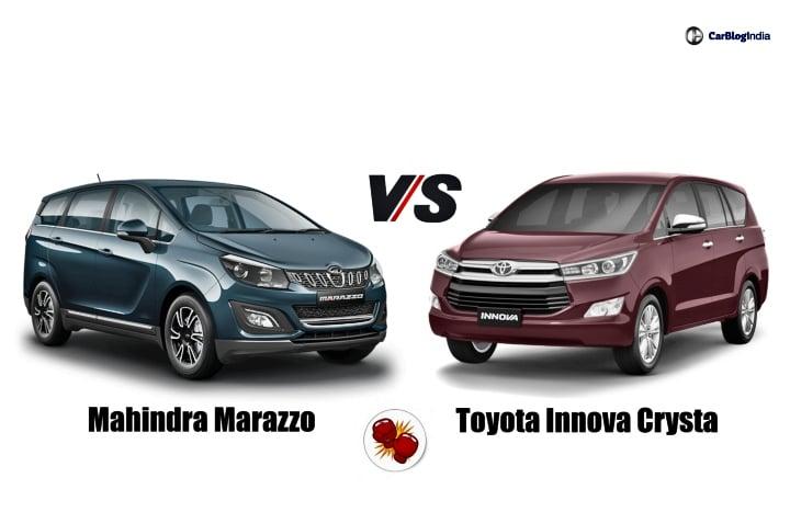 Mahindra Marazzo Vs Toyota Innova Crysta- Which One Should ...