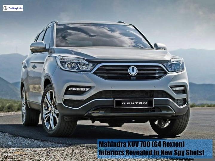 Mahindra XUV 700 (G4 Rexton) interiors revealed in new Spy Shots