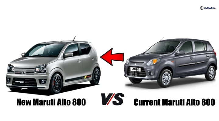 New Maruti Alto 800 vs Current Alto 800- Changes you can expect!