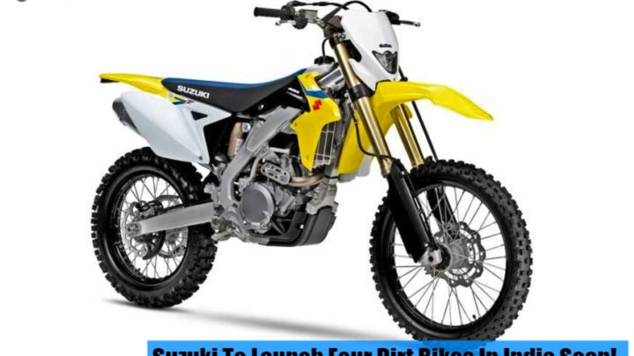 4 Suzuki Dirt Bikes to launch in India but you cannot ride them on