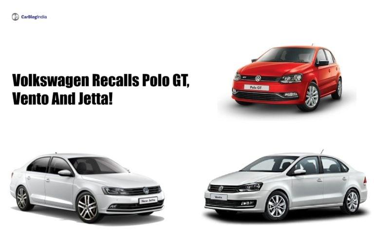 Volkswagen recalls Polo GT, Vento and Jetta- Complete Details