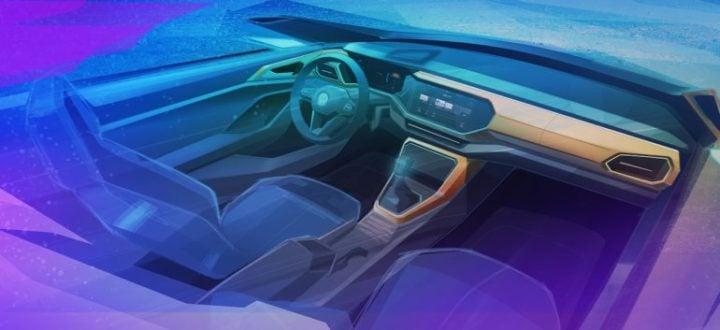 volkswagen t-cross interiors sketch image
