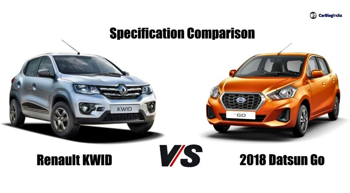 2018 Datsun GO Facelift Vs Renault Kwid – Specification Comparison