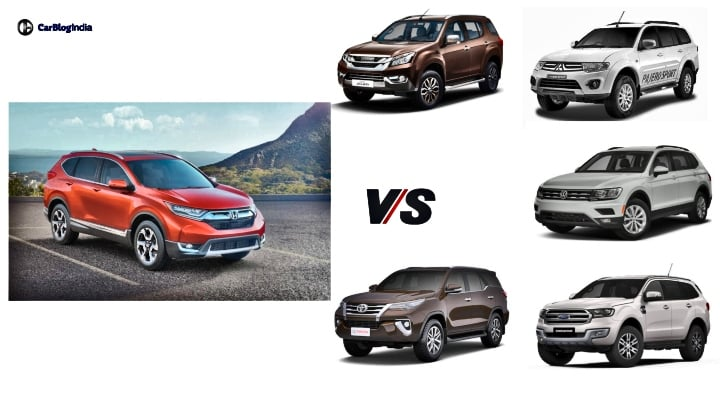 2018 Honda CR-V vs Toyota Fortuner and others – Price comparison