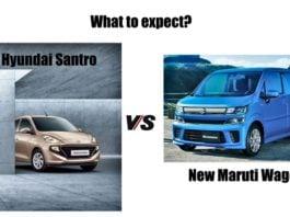 2018 Hyundai Santro Vs new maruti wagon r comparison image