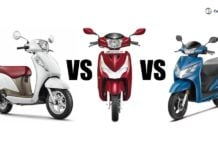 Hero Destini 125 Vs Honda Activa 125 Vs Suzuki Access 125
