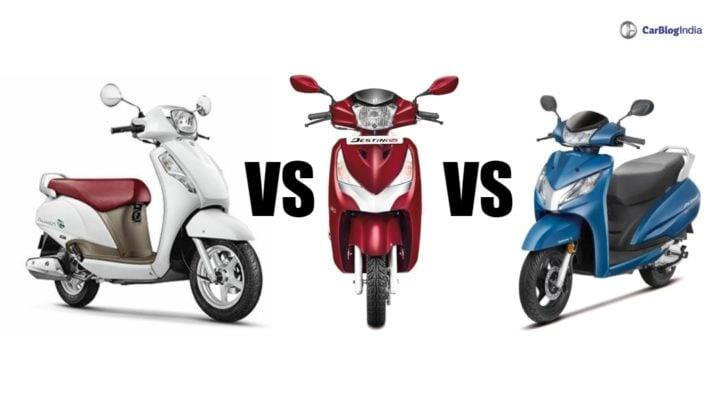 Hero Destini 125 Vs Honda Activa 125 Vs Suzuki Access 125