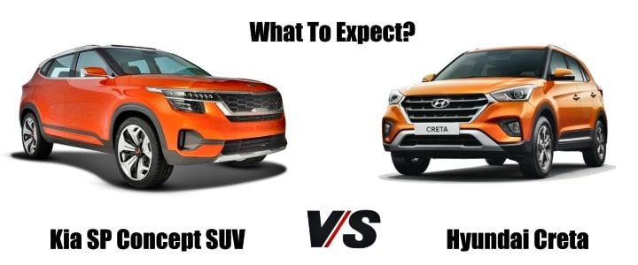 Kia SP Concept Vs Hyundai Creta comparison image