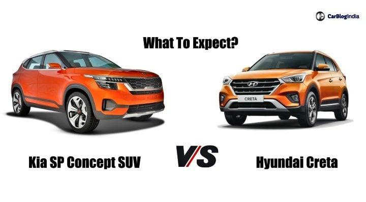 Kia SP Concept Vs Hyundai Creta comparison image