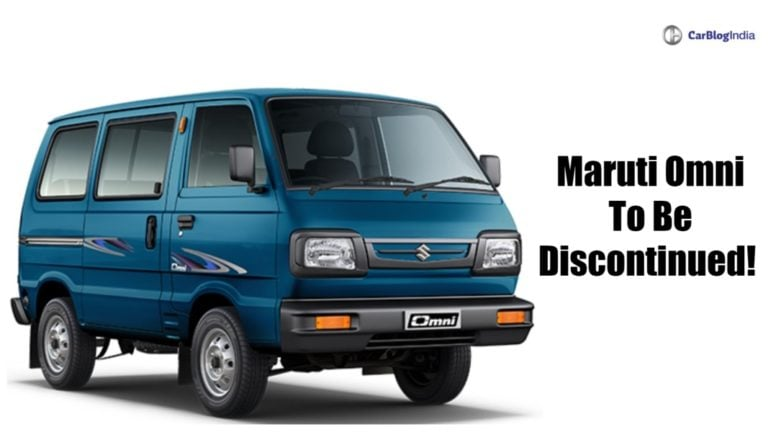 Maruti Omni will be no longer available after October 2020
