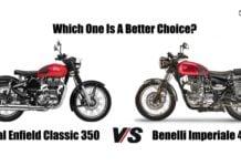 Royal Enfield Classic 350 Vs Benelli Imperiale 400 comparison image