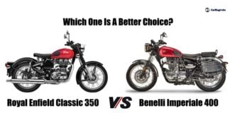 Royal Enfield Classic 350 Vs Benelli Imperiale 400 comparison image