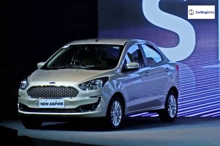 2018 Ford Aspire Facelift launched in India- Prices, Features and Specs