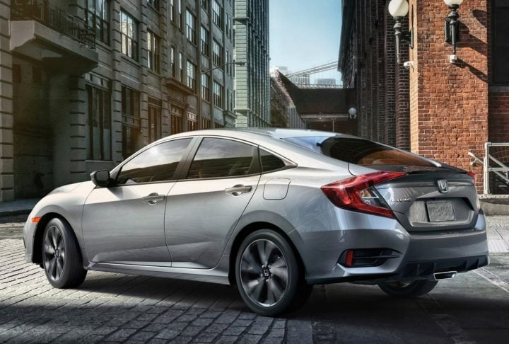 honda civic 2019 rear image