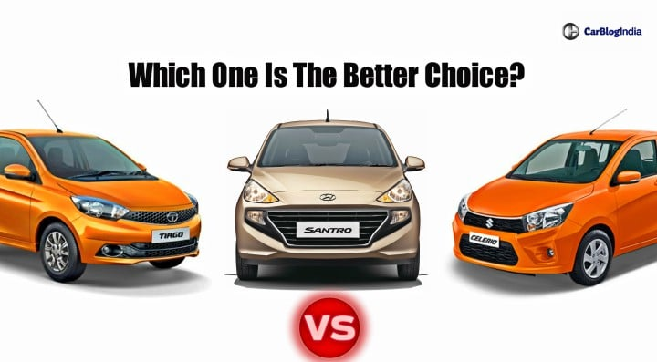 Hyundai Santro Vs Tata Tiago Vs Maruti Celerio- Specification Comparison