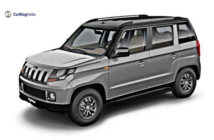 mahindra tuv 300 facelift front image