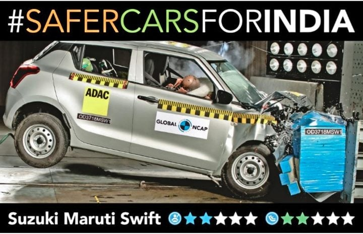 maruti swift ncap crash test image