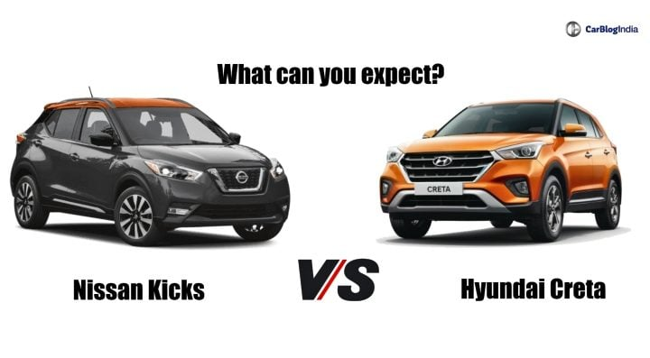 nissan kicks vs hyundai creta comparison image