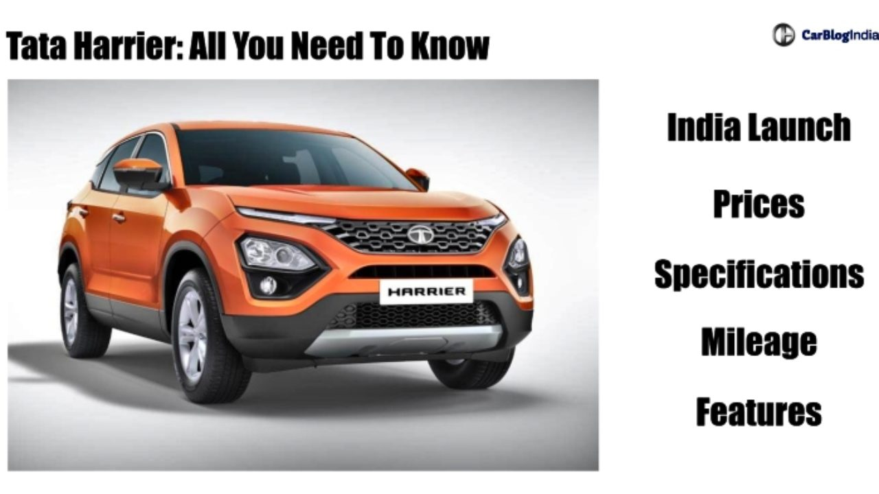 Tata Harrier Price In India Engine Specs Mileage Features Colours