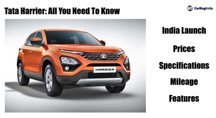 Tata Harrier Price in India, Engine Specs, Mileage, Features, Colours, Variants, Images