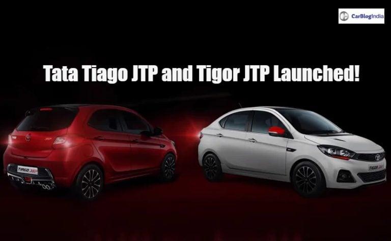 Tata Tiago JTP and Tigor JTP launched in India