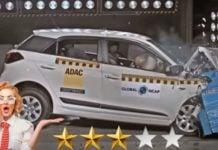 Hyundai i20 safety crash image