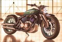Royal Enfield 838cc V-Twin engine bobber