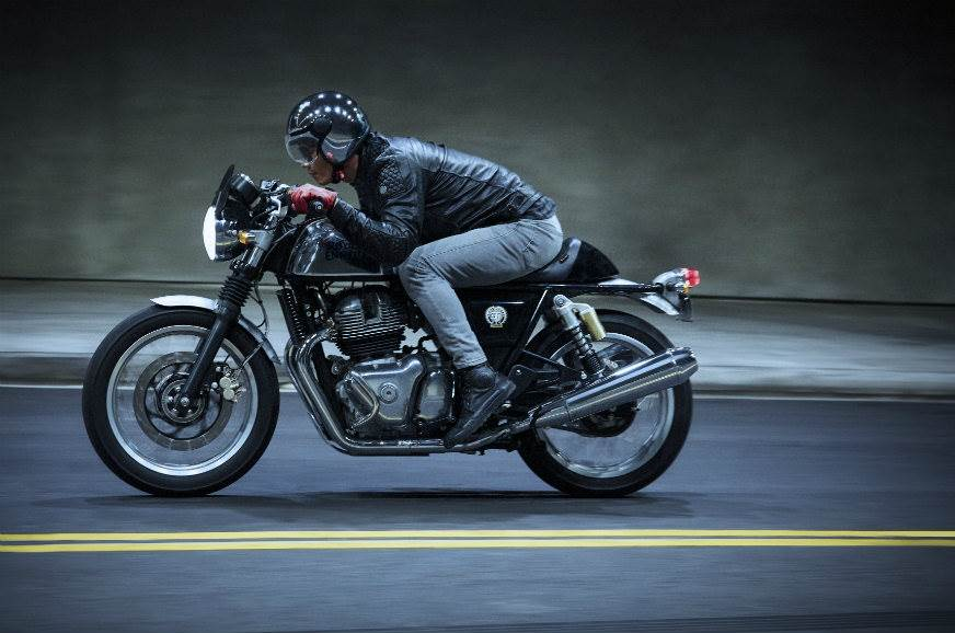 Royal Enfield gt 650 action image
