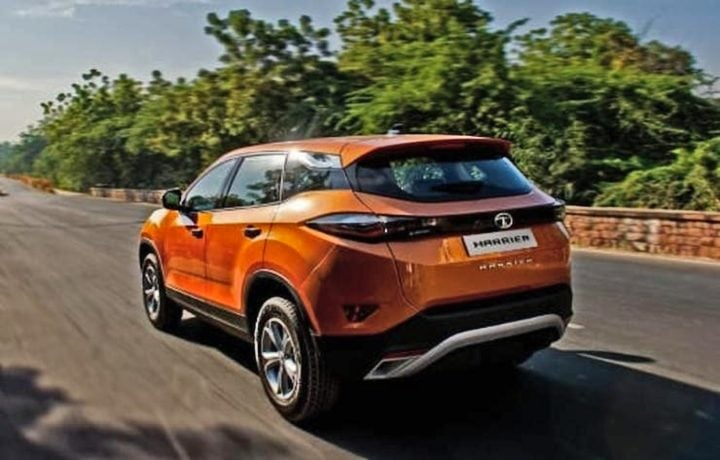 tata harrier rear image