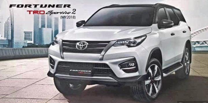 toyota fortuner trd front image