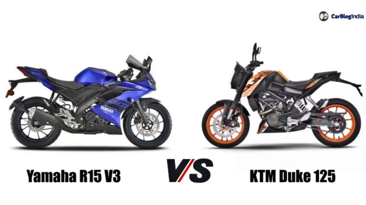 KTM Duke 125 vs Yamaha R15 V3: Specification Comparison
