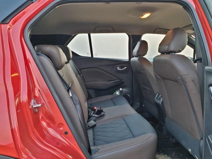 nissan kicks rear seat image