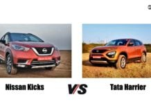 nissan kicks vs tata harrier front image