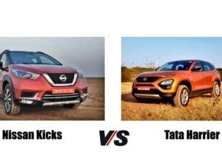 nissan kicks vs tata harrier front image