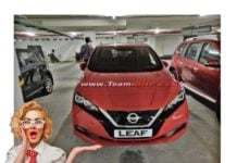nissan leaf india spy image
