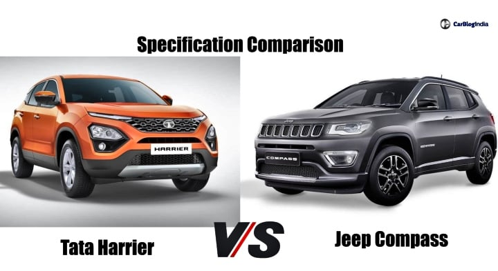 Tata Harrier Vs Jeep Compass: Specification Comparison