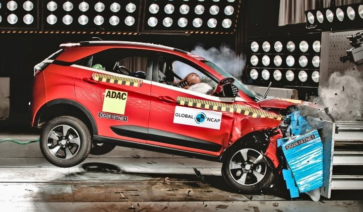 tata nexon crash test image