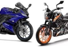 Yamaha R15 V3 ABS Vs KTM Duke 200 ABS